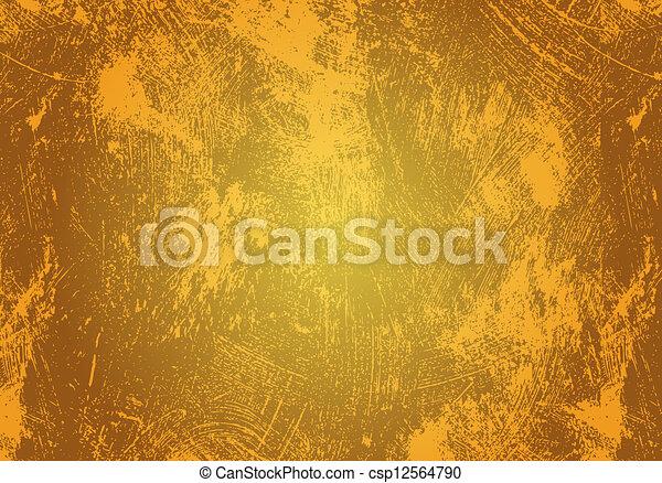 yellow grunge background - csp12564790