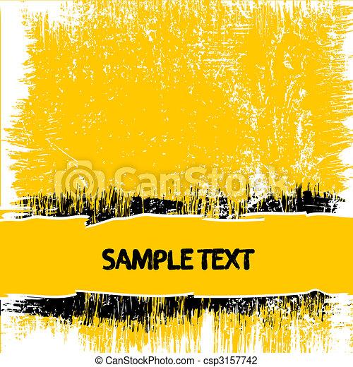 Yellow grunge background - csp3157742