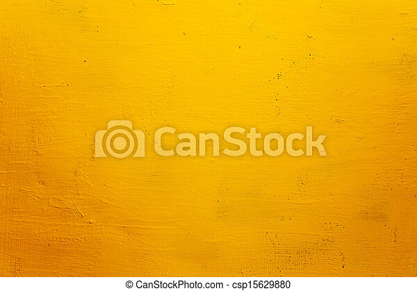 Yellow grunge wall for texture background  - csp15629880