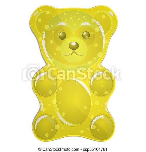 yellow gummy bear vector illustration