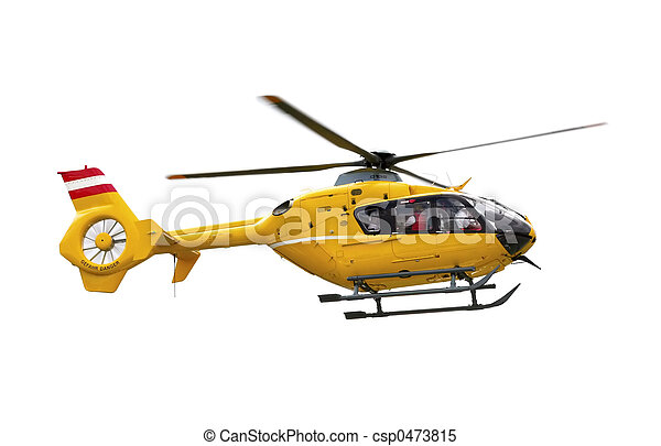 Yellow helicopter - csp0473815