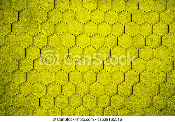 Yellow Hexagon Wallpaper Yellow Concrete Honeycomb Hexagon Pattern