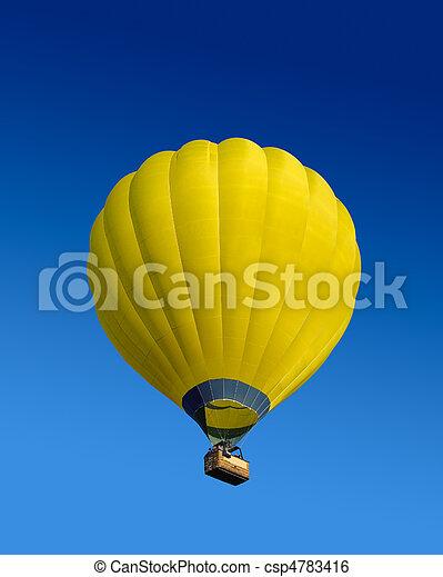 Yellow hot air balloon - csp4783416