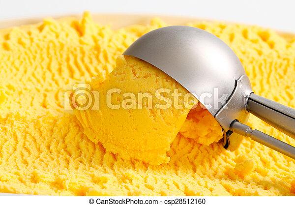 Yellow ice cream  - csp28512160
