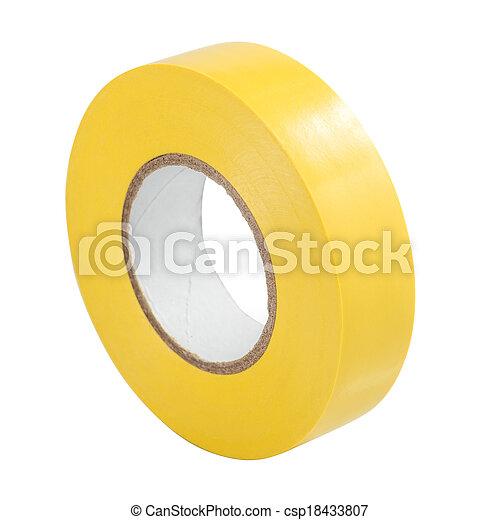 Yellow insulating tape isolated - csp18433807