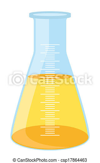 Yellow lab beaker - csp17864463