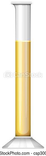 Yellow liquid in test tube - csp30086204