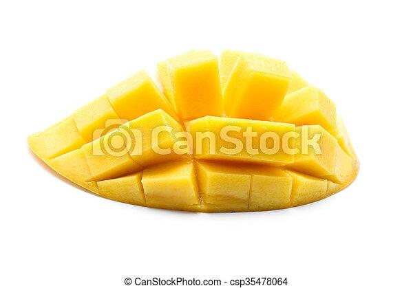 Yellow mango isolated on white background, Thai fruit - csp35478064
