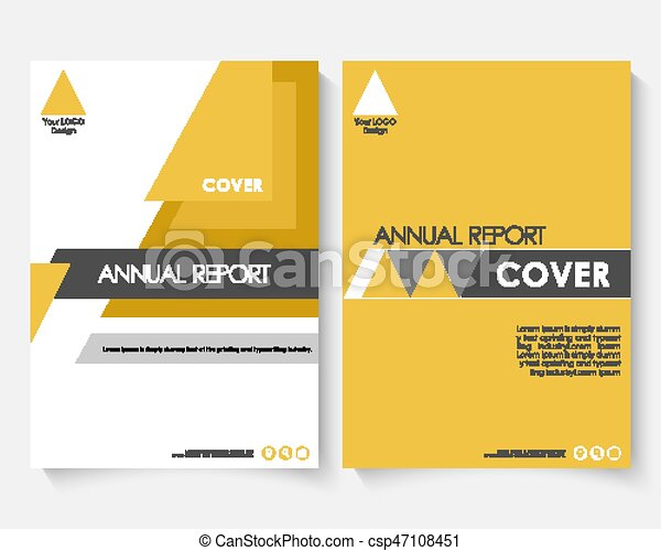 Yellow Marketing Cover Design Template For Annual Report Modern Minimalist Business Powerpoint Concept Booklet