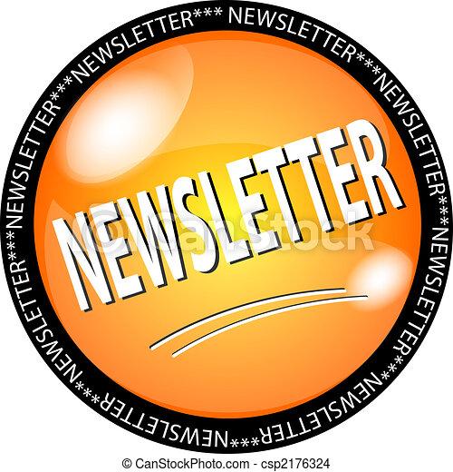yellow newsletter button - csp2176324