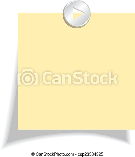 Yellow note paper - csp23534325