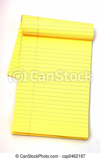 Yellow Notepad - csp0462187