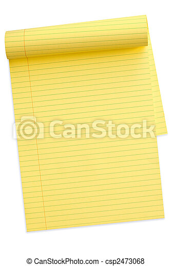Yellow Notepad (with Path) - csp2473068