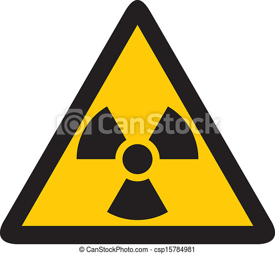 yellow nuclear sign - csp15784981