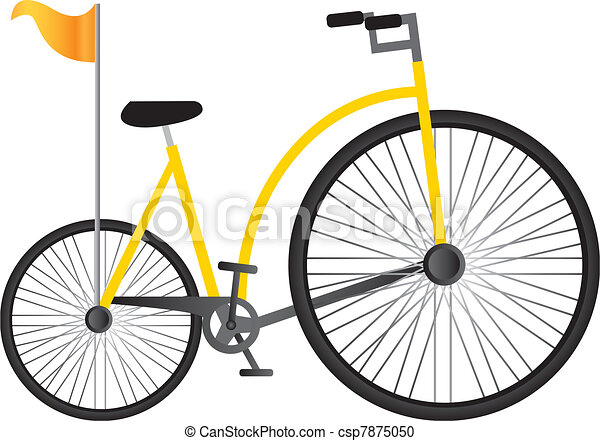 yellow old bicycle - csp7875050