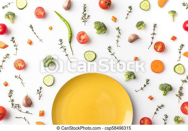 yellow plate - csp58496315