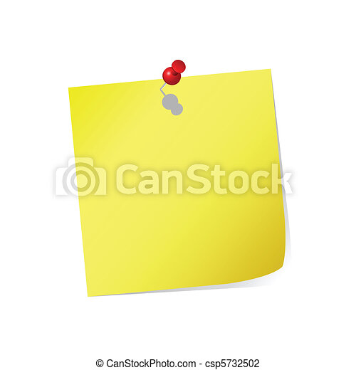 yellow post-it  - csp5732502
