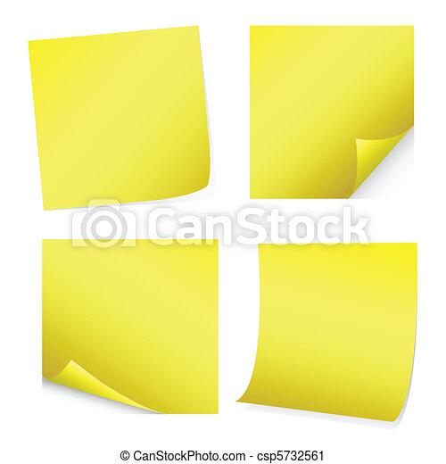 yellow post-it - csp5732561