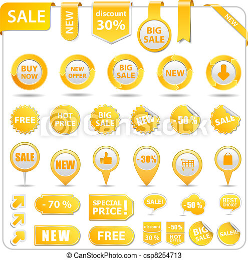 Yellow Price Tags - csp8254713