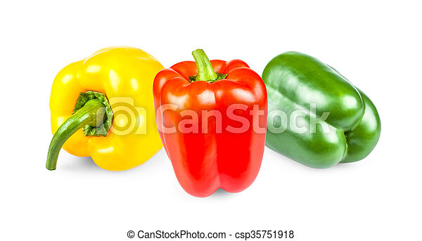 Yellow, red and green peppers - csp35751918