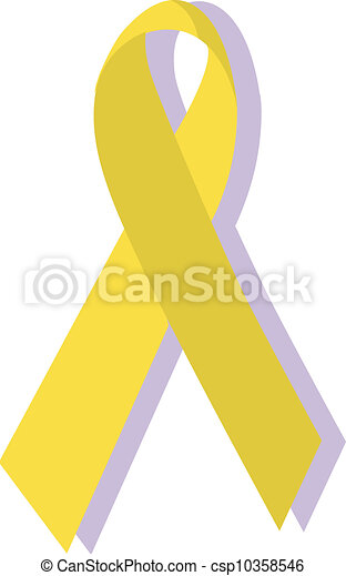 Yellow ribbon, military support - csp10358546