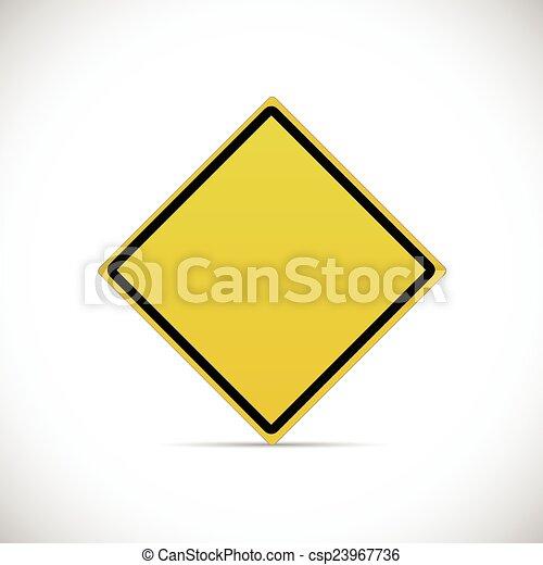 Yellow Road Sign - csp23967736