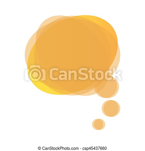 yellow round chat bubble icon - csp45437660