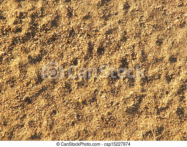 Yellow sand on the shore - csp15227974