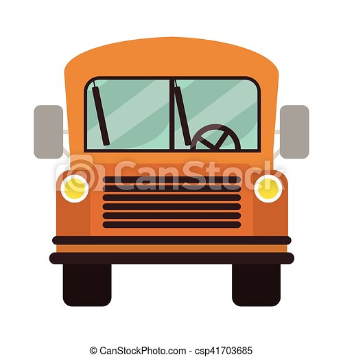 yellow school bus vehicle over white background vector vector rh canstockphoto co uk school bus vector free download school bus vector art