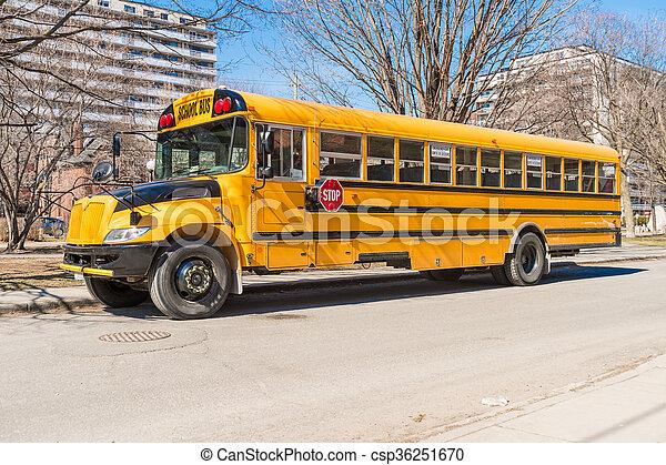 Yellow school bus in America - csp36251670
