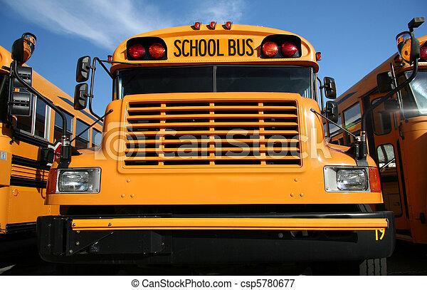 Yellow school bus - csp5780677
