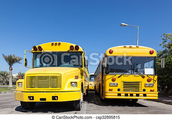 Yellow school buses - csp32895815