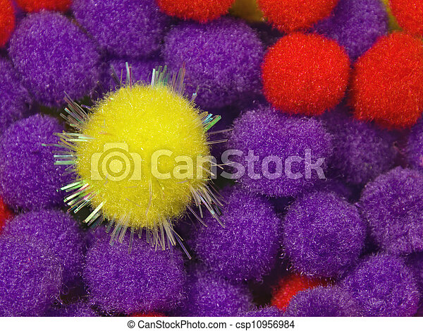 Yellow Shiny Foam Ball - csp10956984