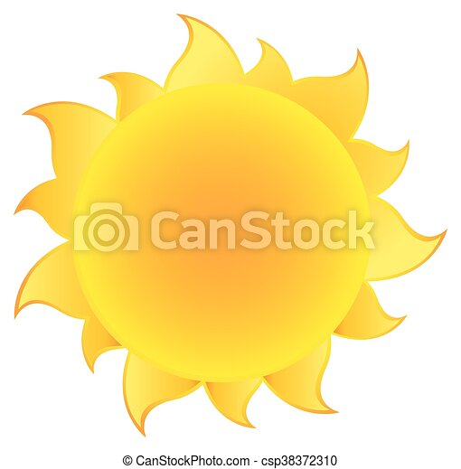 Yellow Silhouette Sun With Gradient - csp38372310