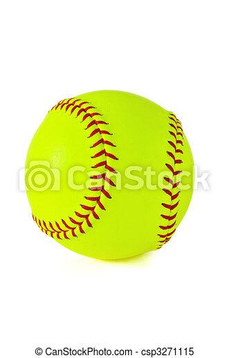 Yellow Softball - csp3271115