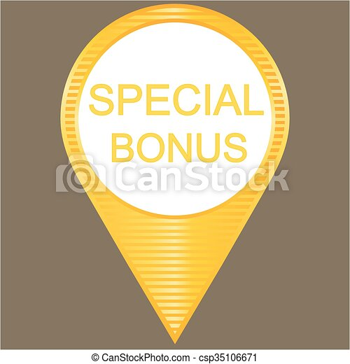 Yellow special bonus button - csp35106671