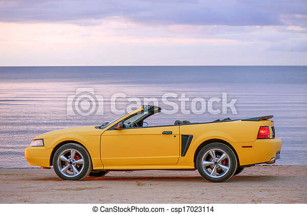 Yellow sport car cabriolet - csp17023114