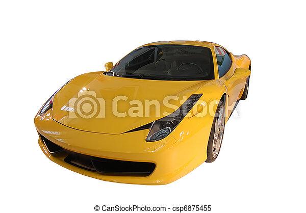 Yellow sports car - csp6875455