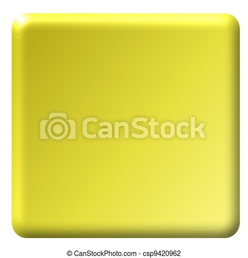 Yellow Square Button - csp9420962
