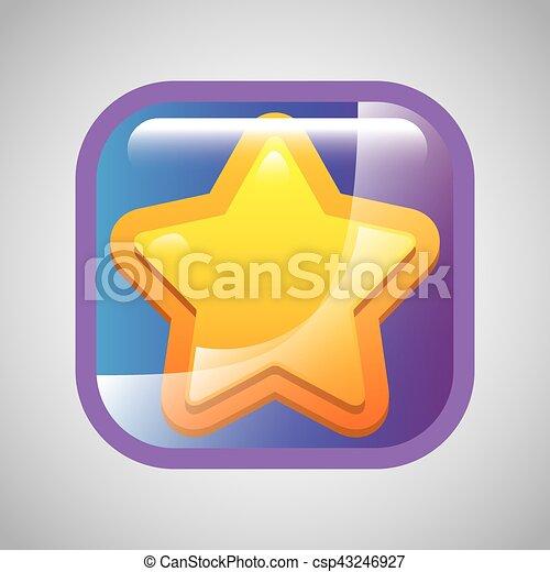 yellow star icon - csp43246927