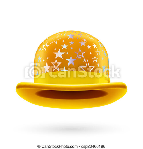 Yellow starred bowler hat - csp20460196