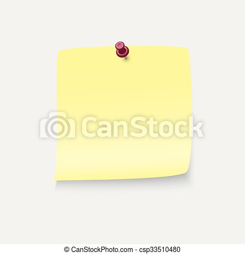 Yellow stick note - csp33510480