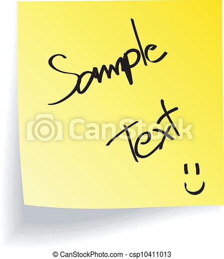 Yellow Stick Note on White - csp10411013
