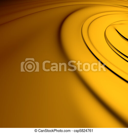 Yellow swirl closeup. Clean, detailed render. Backgrounds series. - csp5824761