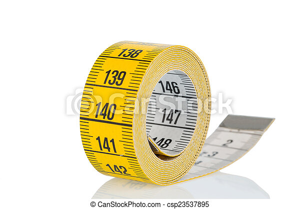 yellow tape measure - csp23537895