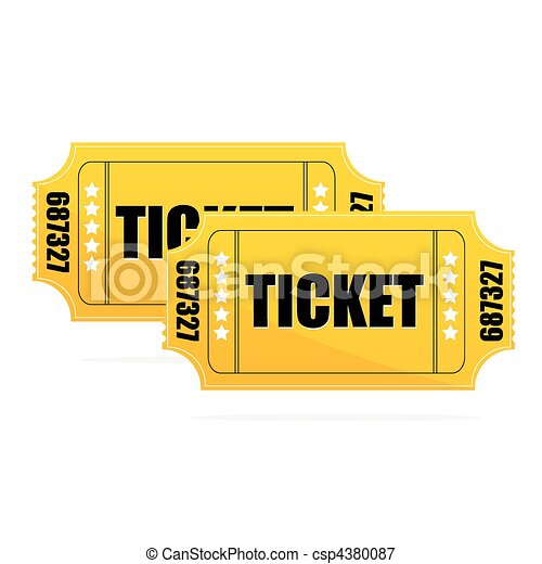 Yellow Ticket - csp4380087