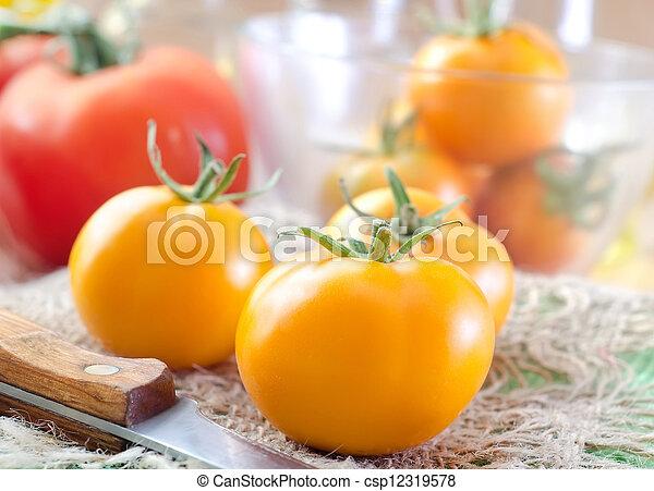 Yellow tomato - csp12319578