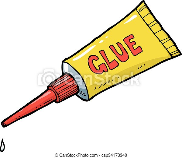 yellow tube glue cartoon doodle yellow tube of glue vector eps rh canstockphoto com glue clipart blank glue clip art scissors