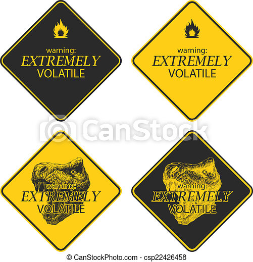 Yellow warning and danger signs collection - csp22426458