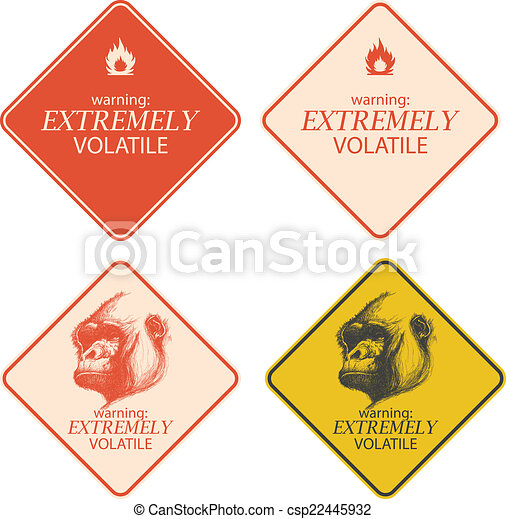 Yellow warning and danger signs collection eps8 - csp22445932